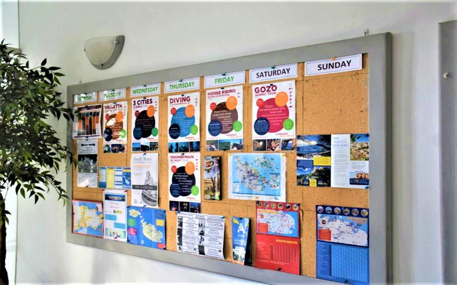 GV Malta校内のアクティビティに関する連絡ボード