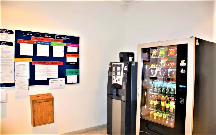 マルタの人気語学学校linguatime校内自販機