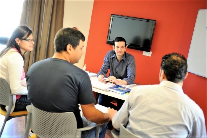Clubclass Maltaのビジネス英語クラスの様子