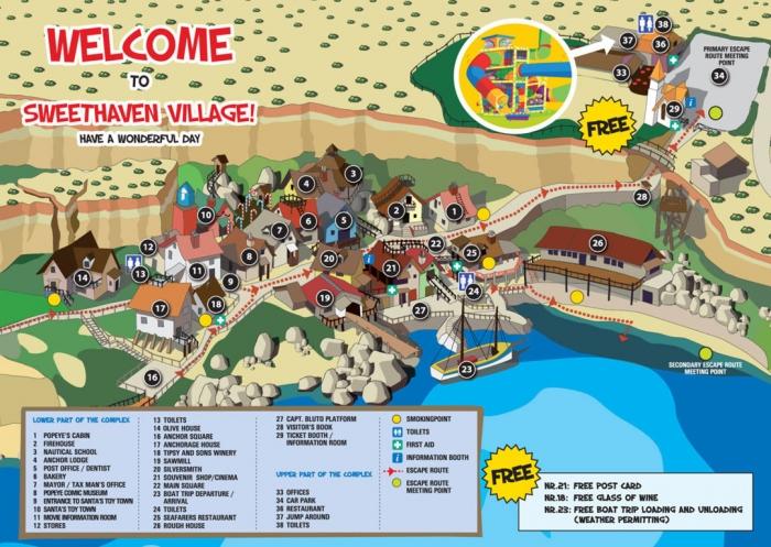マルタ留学中に一度は訪れたいポパイ村の地図