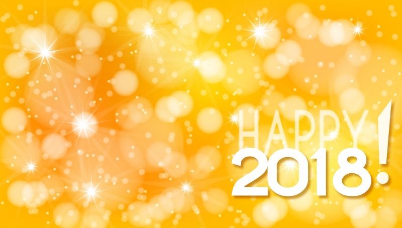 Happy New Year 2018のデザイン