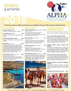 Alpha School of Englishアクティビティ例