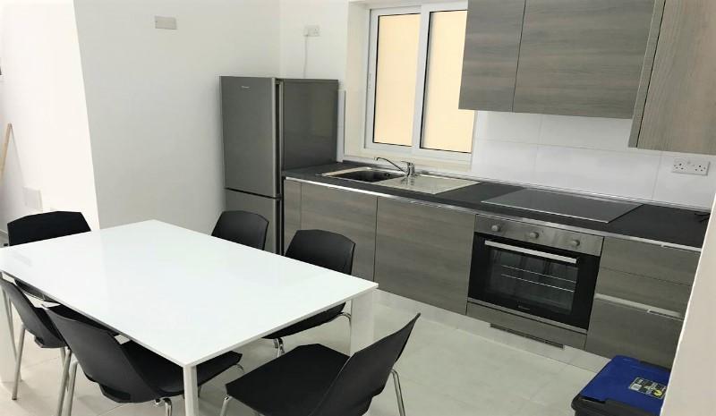 マルタの人気語学学校Alpha School of Englishの学校アパートメントキッチン例