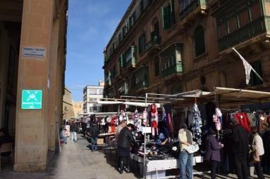 マルタの首都Vallettaでのマーケット
