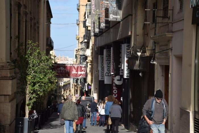 マルタの首都Vallettaの1月の様子