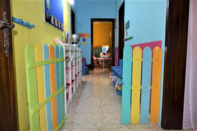 マルタ親子留学のパイオニアAlpha School of English内の子供用フロアの入り口