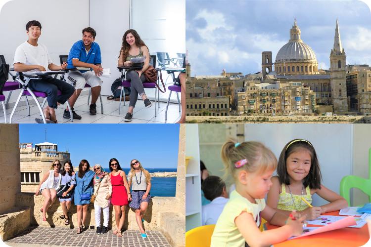 マルタ留学生とVallettaの景観