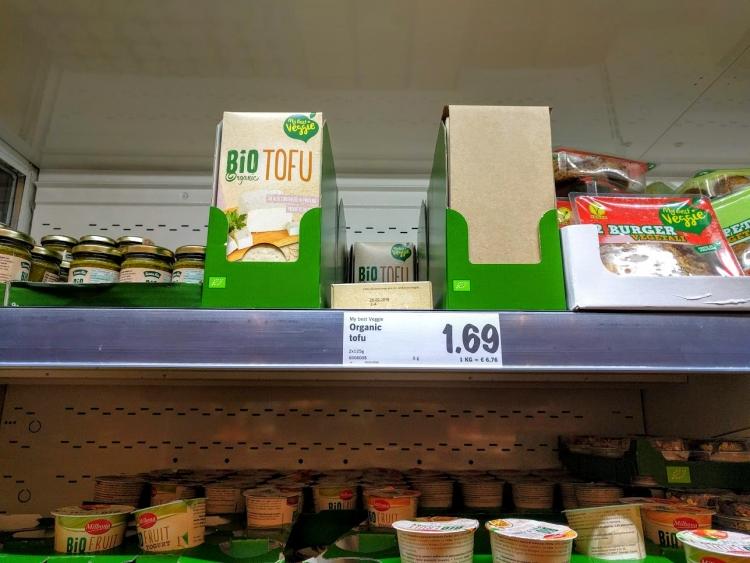 マルタ留学中にオススメの格安スーパーLidlで販売されていたオーガニック豆腐
