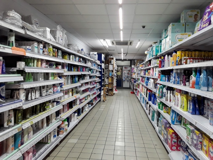 マルタ留学-コロナウィルスによる自粛ムード中のスーパーマーケット内の様子(ヘアケア&スキンケア&洗剤コーナー)