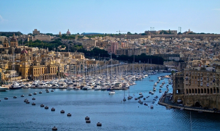 マルタ留学-港の眺め