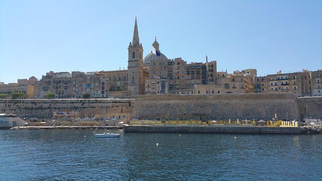 マルタ留学人気エリアの首都Valletta