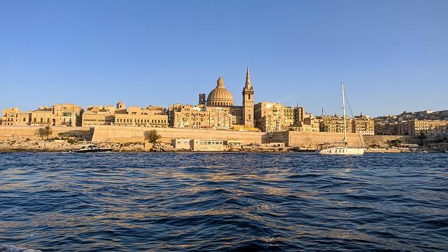 マルタ留学の人気エリア首都Valletta