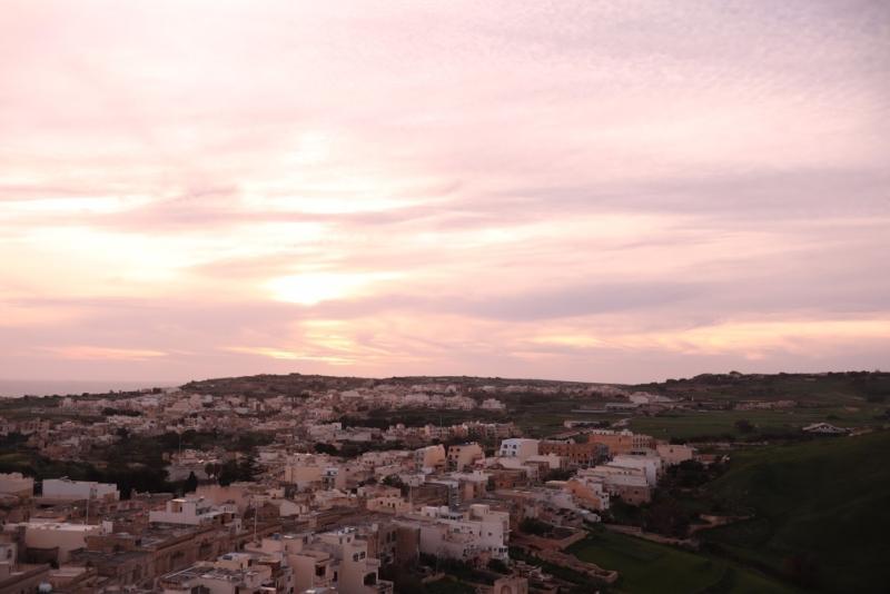 マルタの夕焼け
