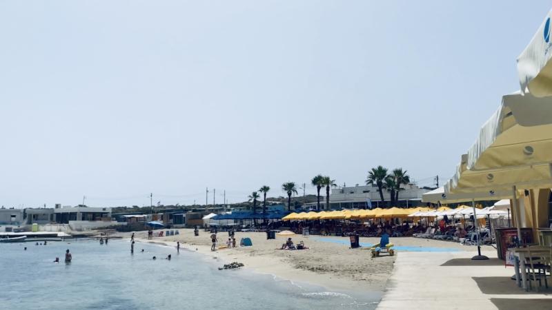 マルタ北東部の街Melliehaのビーチ